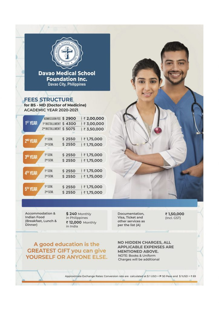 davao medical college philippines fees structure for academic year 2020 - 2021